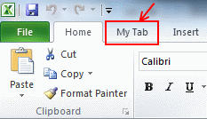 You can customize ribbon in Excel 2010