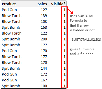 Exclude Hidden Rows from Totals [How to?]