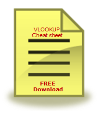 VLOOKUP Formula Cheat-sheet – FREE Download