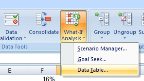 Create a data table in Excel - Project finance modeling in Excel