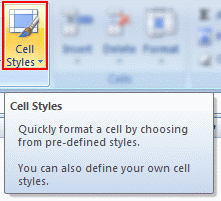 Use Cell Styles to Make your Spreadsheet Models User-friendly [Quick Tip]