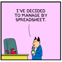 Dilbert on Excel, Spreadsheets and Cell C23