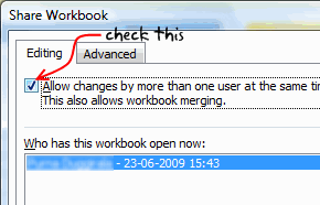 Excel Workbook sharing options - To do lists - Project Management