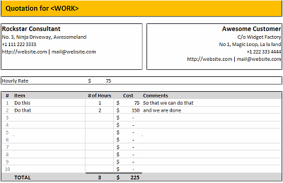 FREE Excel Quotation Templates - Prepare and Print quotations ...