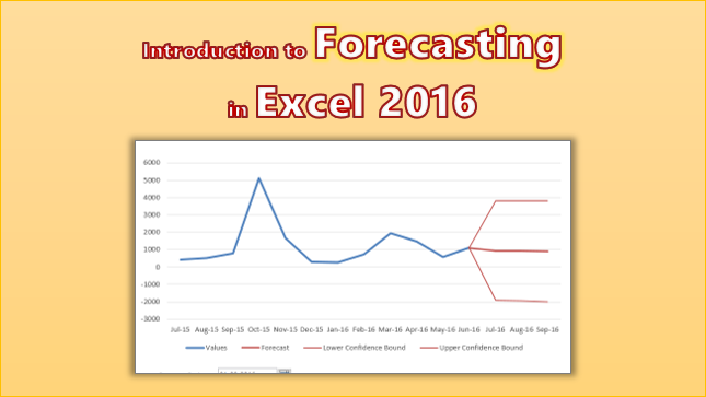 Introduction to Forecasting in Excel 2016 [Charts & Visual Analysis]