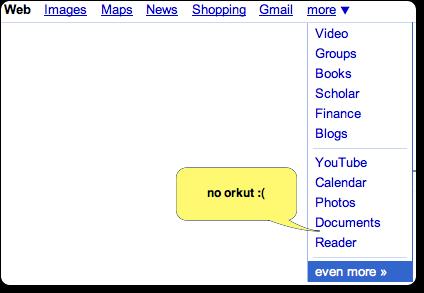 Does google menu lack common sense?
