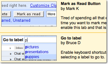 Gmail Labs 2 new useful features – Mark as Read, Label Auto Suggest