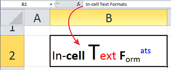 In Cell Text Formats – 2 Quick Tips