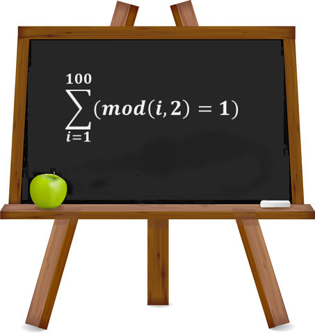 Formula Forensics 022. Sum the Odd Numbers between 1 and 100