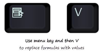 Replace formulas with values using this shortcut [quick tip]