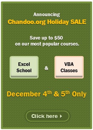 Holiday Sale is on, Save upto $50 on your favorite Excel courses