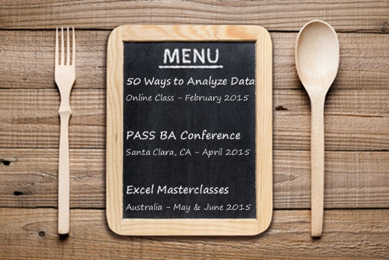 3 Course Meal of Excel Awesomeness for You