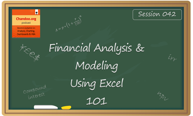 CP042: Financial Analysis & Modeling concepts – 101