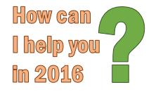 How can I help you in 2016? [Survey]