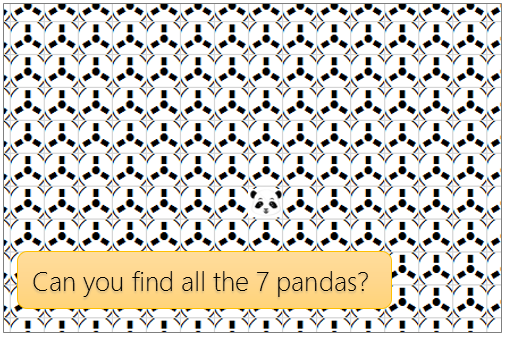 There are seven pandas hidden in this workbook [Easter Eggs]