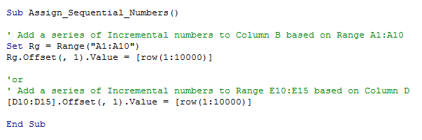 001 Sequential Numbers