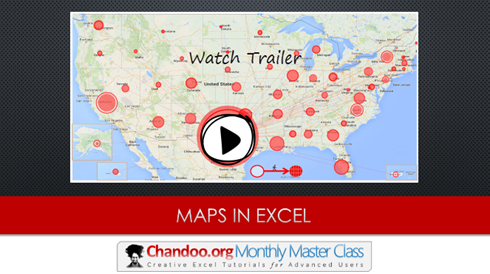 How to get Maps in to Excel charts & dashboards [Master Class]