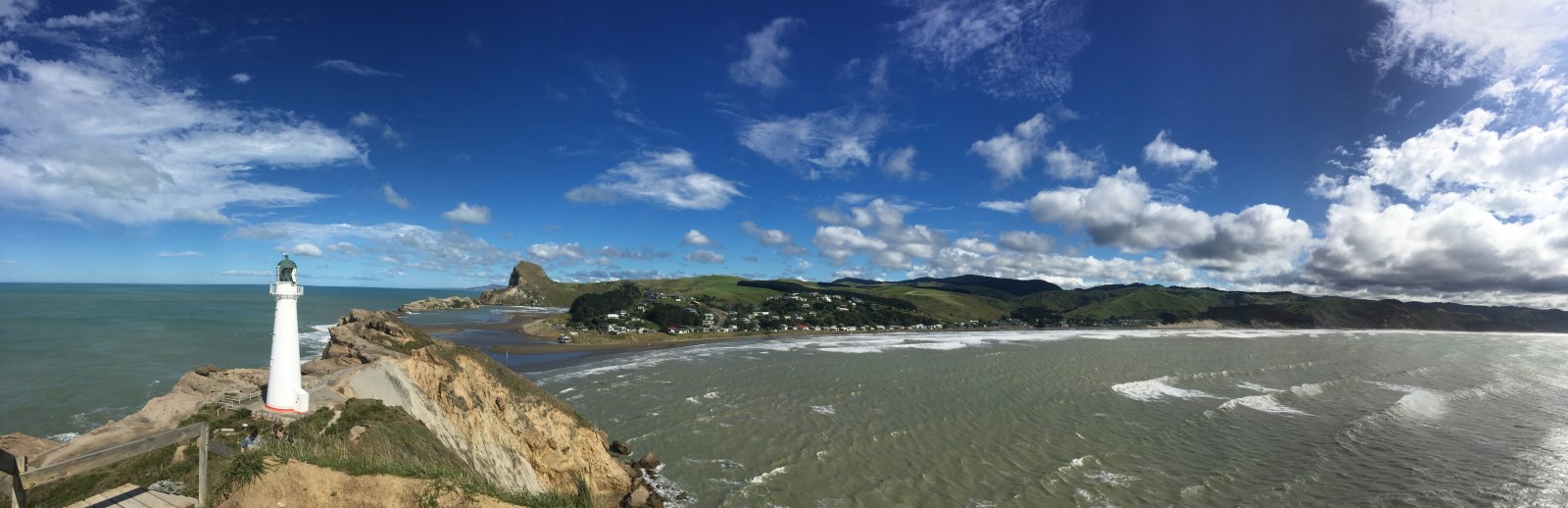 Panorama of Coastal NZ - Castlepoint Lighthouse