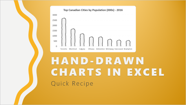 Make funky and creative hand-drawn chart in Excel – Quick tutorial