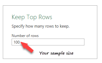 keep top random rows