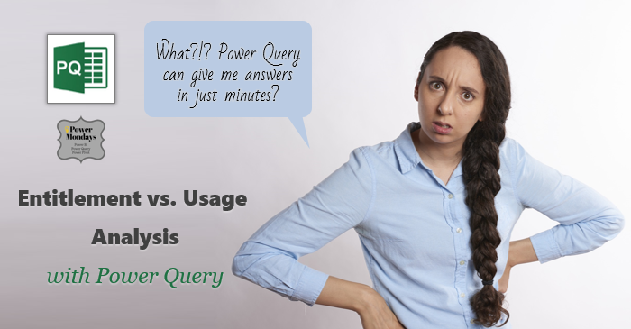 Leave entitlement vs. usage analysis with Power Query