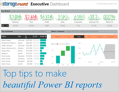 top tips to design pretty power bi reports