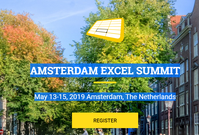 Amsterdam Excel Summit - May 2019 - Chandoo