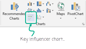 fake - key influencer icon in ribbon