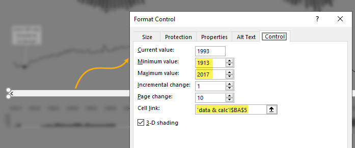 form control for selecting year