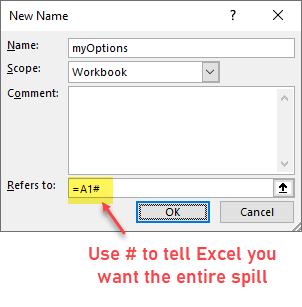 Dynamic array approach to get drop-down list without duplicates